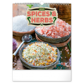 Wall calendar Spices and Herbs 2021, 30 × 34 cm