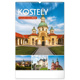 Wall calendar Churches and Places of Pilgrimage 2022, 33 × 46 cm