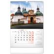 Nástěnný kalendář Kostely a poutní místa 2022, 33 × 46 cm