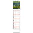 Nástěnný kalendář Krajina 2022, 12 × 48 cm