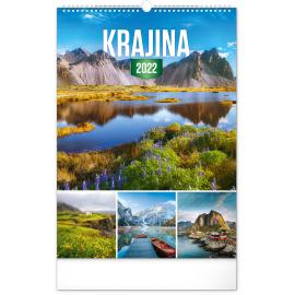 Wall calendar Landscape 2022, 33 × 46 cm