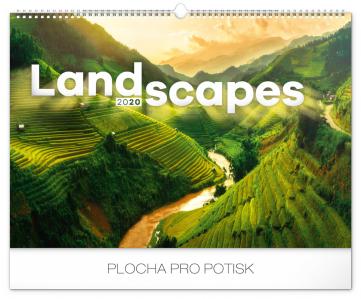 Nástěnný kalendář Krajiny 2020, 48 × 33 cm