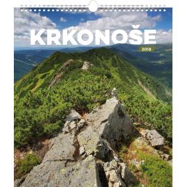 Nástěnný kalendář Krkonoše 2018, 30 x 34 cm