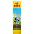 Nástěnný kalendář Krteček 2019, 12 x 48 cm