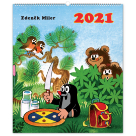 Nástěnný kalendář Krteček 2021, 48 × 56 cm