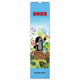 Nástěnný kalendář Krteček 2022, 12 × 48 cm
