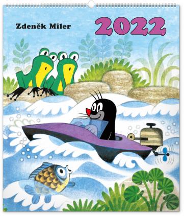 Nástěnný kalendář Krteček 2022, 48 × 56 cm