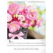Nástěnný kalendář Květiny 2019, 30 x 34 cm