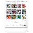 Nástěnný kalendář Květiny 2021, 30 × 34 cm