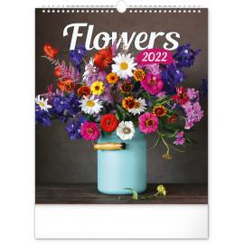 Wall calendar Flowers 2022, 30 × 34 cm