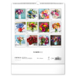Nástěnný kalendář Květiny 2022, 30 × 34 cm