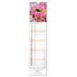 Nástěnný kalendář Květiny – Kvety 2020, 12 × 48 cm