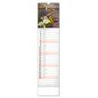 Nástěnný kalendář Květiny – Kvety 2021, 12 × 48 cm
