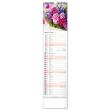Nástěnný kalendář Květiny – Kvety 2022, 12 × 48 cm