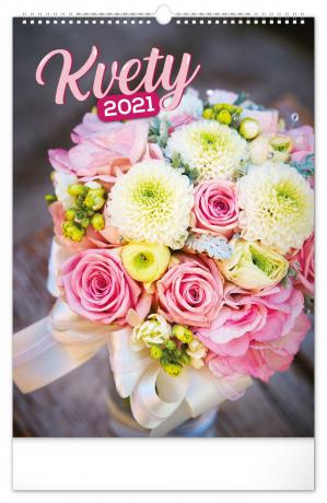 Nástěnný kalendář Kvety SK 2021, 33 × 46 cm