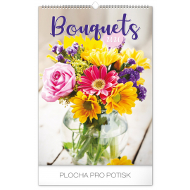 Wall calendar Bouquets 2020, 33 × 46 cm