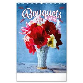Wall calendar Bouquets 2022, 33 × 46 cm