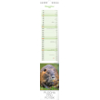 Nástěnný kalendář Lesní zvěř – lesná zver 2018, 10,5 x 48 cm