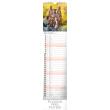 Nástěnný kalendář Lesní zvěř – Lesná zver 2019, 12 x 48 cm