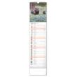 Nástěnný kalendář Lesní zvěř – Lesná zver 2021, 12 × 48 cm