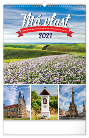 Nástěnný kalendář Má vlast 2021, 33 × 46 cm