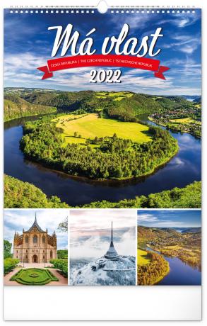 Nástěnný kalendář Má vlast 2022, 33 × 46 cm