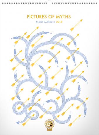 Nástěnný kalendář Maria Makeeva 2018, 48 x 64 cm