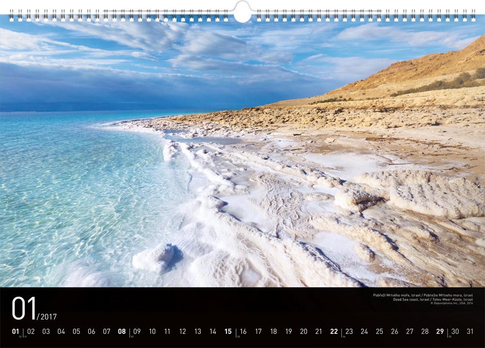 nastenny kalendar Nástěnný kalendář Moře 2017, 48 x 33 cm | PRESCO.CZ nastenny kalendar