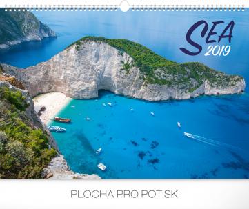 Nástěnný kalendář Moře 2019, 48 x 33 cm