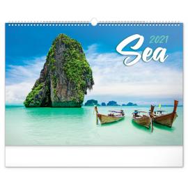 Wall calendar Sea 2021, 48 × 33 cm