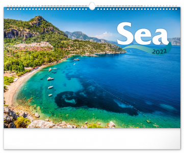 Nástěnný kalendář Moře 2022, 48 × 33 cm