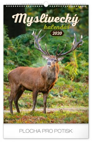 Nástěnný kalendář Myslivecký 2020, 33 × 46 cm