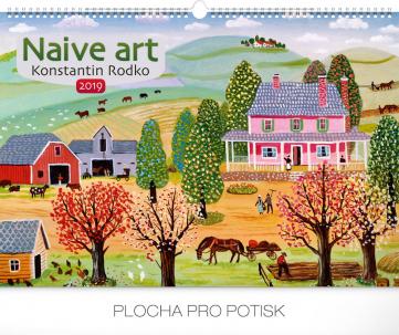 Nástěnný kalendář Naivní umění – Konstantin Rodko 2019, 48 x 33 cm