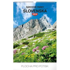 Wall calendar Národné parky Slovenska SK 2019, 33 x 46 cm