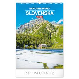 Nástěnný kalendář Národné parky Slovenska SK 2020, 33 × 46 cm