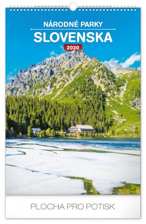 Wall calendar Národné parky Slovenska SK 2020, 33 × 46 cm