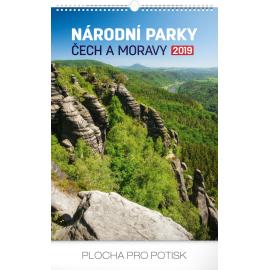 Nástěnný kalendář Národní parky Čech a Moravy 2019, 33 x 46 cm