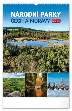Nástěnný kalendář Národní parky Čech a Moravy 2021, 33 × 46 cm