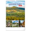 Nástěnný kalendář Národní parky Čech a Moravy 2022, 33 × 46 cm