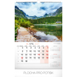 Nástěnný kalendář Naše Slovensko 2019, 33 x 46 cm