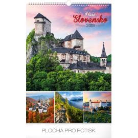 Wall calendar Slovakia 2019, 33 x 46 cm