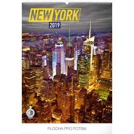 Wall calendar New York 2019, 48 x 64 cm