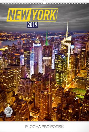 Nástěnný kalendář New York 2019, 48 x 64 cm