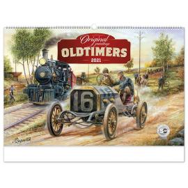 Nástěnný kalendář Oldtimers – Václav Zapadlík 2021, 64 × 42 cm