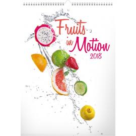 Nástěnný kalendář Ovoce v pohybu 2018, 33 x 46 cm