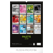 Nástěnný kalendář Paleta 2019, 33 x 46 cm