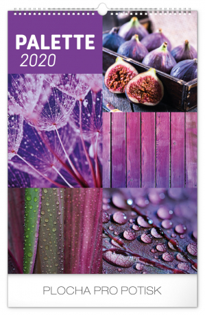 Nástěnný kalendář Paleta 2020, 33 × 46 cm