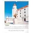Nástěnný kalendář Pamätihodnosti Slovenska SK 2019, 30 x 34 cm