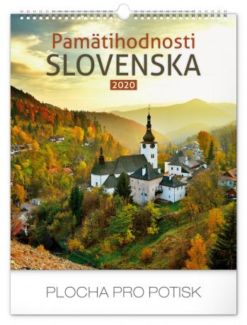 Nástěnný kalendář Pamätihodnosti Slovenska SK 2020, 30 × 34 cm
