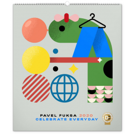 Wall calendar Pavel Fuksa 2020, 48 × 56 cm